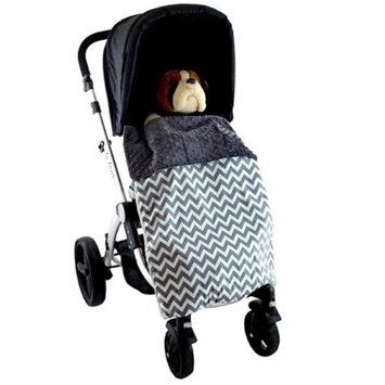 Blue Baby Bum Zig Zag Stroller Blankie Grey