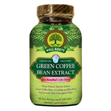 Well Roots Green Coffee Bean Extract, Softgels