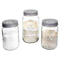 Cathy's Concepts Personalized Mason Jar Sand Ceremony Set with Letter X