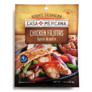 Casa Mexicana Chicken Fajitas Seasoning Mix, 1-Ounce Bags (Pack of 12)