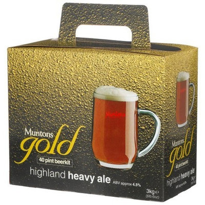 Muntons Gold 40 Pint Beerkit, Highland Heavy Ale, 102-Ounce Box