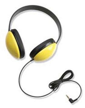 CALIFONE INTERNATIONAL CAF2800YL LISTENING FIRST STEREO HEADPHONES Y ELLOW
