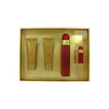Perry Ellis Gift Set -- 3.4 oz Eau De Parfum Spray + 3 oz Body Lotion + 3 oz Shower Gel + .25 oz Mini EDP Spray