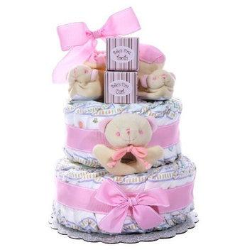 Alder Creek Gifts Girl's Two-Tier Diaper Cake