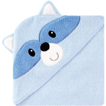 Luvable Friends Hooded Towel with Embroidery, Raccoon