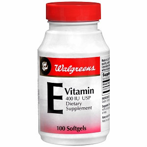 Walgreens Gold Seal Vitamin E 400 IU Dietary Supplement Softgels