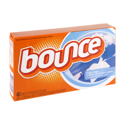 Bounce Dryer Sheets Fresh Linen Scent