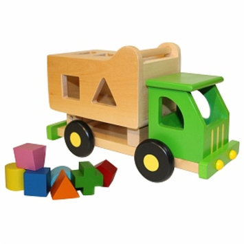 Discoveroo Wooden Sort n Tip Garbage Truck Ages 18 Months+, 1 ea
