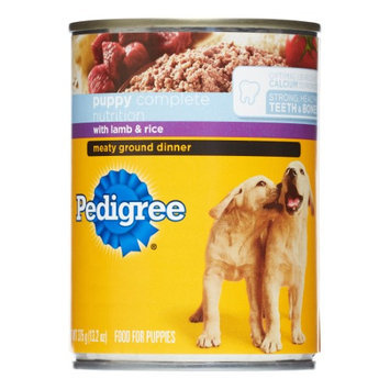 Pedigree Meaty Ground Dinner With Lamb & Rice Food For Puppies, 13.2 Oz