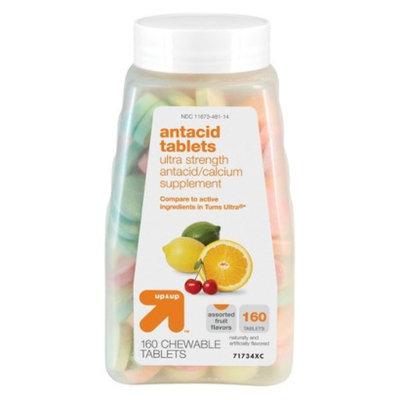 up & up Ultra Strength Antacid Tablets Assorted Fruit Flavor,C28 160