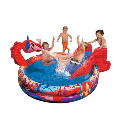 Manley Banzai Slide N Spray Kids Dragon Pool