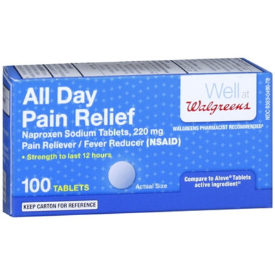 Walgreens All Day Pain Relief Naproxen Sodium 220mg