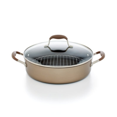 Anolon Advanced Bronze 5.5 Qt. Covered Braiser with Rack