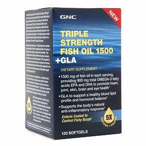 GNC Triple Strength Fish Oil 1500 + GLA