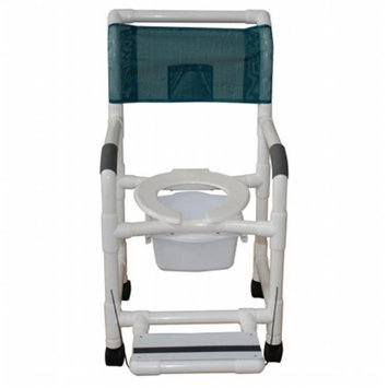 MJM International 118-5-FF-SQ-PAIL Shower Chair 18 in.