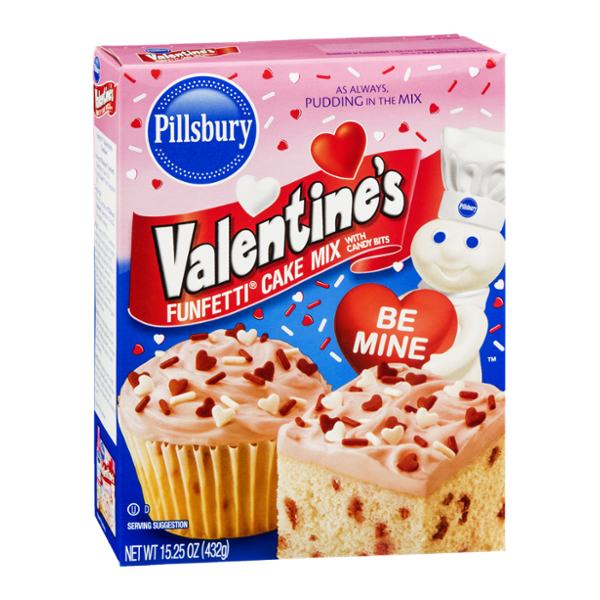 Pillsbury Valentine's Funfetti Cake Mix with Candy Bits