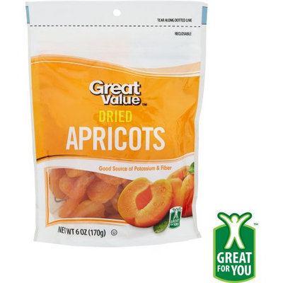 Wal-mart Store, Inc. Great Value Dried Apricots, 6 oz