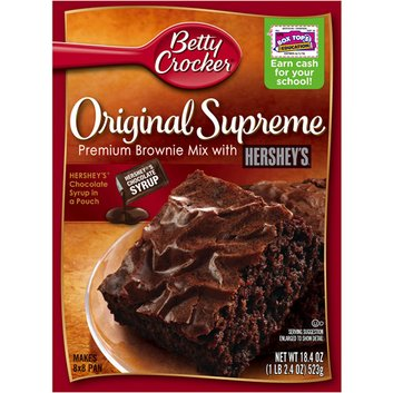 Betty Crocker Original Supreme Premium Brownie Mix with Hershey's