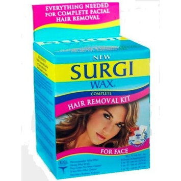 Surgiwax Surgi-wax Complete Hair Removal Kit For Face, 1.2-Ounce Boxes (Pack of 3)