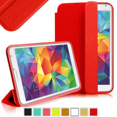 Fintie Omni Case Cover Ultra Slim Lightweight All-around Protection Stand for Samsung Galaxy Tab S 8.4 (8.4-Inch), Red