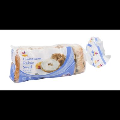 Ahold Cinnamon Raisin Swirl Bagels - 6 CT
