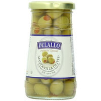 Delallo Olives, Manzanilla Olives Stuffed With Minced Pimento, 5.75 Ounce (Pack of 12)