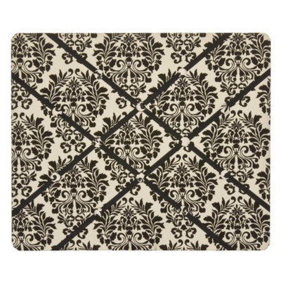New View Damask Floral French Memo Board - Black/Cream