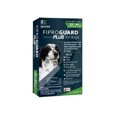 Sentry Fiproguard Plus Flea & Tick Topical for Dogs 23-44 lbs