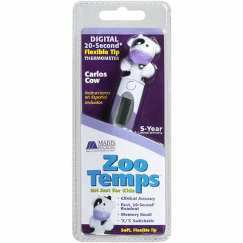Mabis Briggs Healthcare ZooTemps 30 Second Digital Thermometer Set