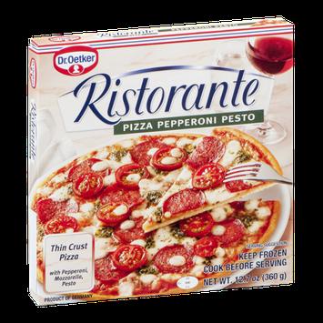 Dr. Oetker Ristorante Thin Crust Pizza Pepperoni Pesto