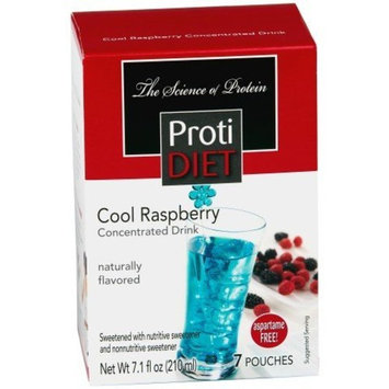 Protidiet Proti Diet Cool Raspberry Concentrated Drink Mix (7 Pouches) Aspartame Free