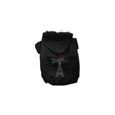 Mirage Pet Products 54-53 SMBK Paris Rhinestone Hoodies Black S - 10