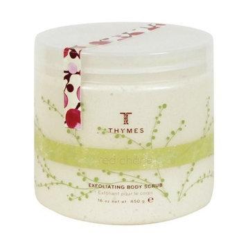 Thymes Body Scrub, Red Cherie, 16-Ounce Jar