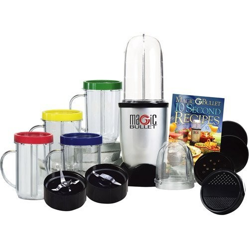 Magic Bullet Express Deluxe 26 Piece Mixer & Blender, 25 Piece with Bonus Ice Shaver Blade
