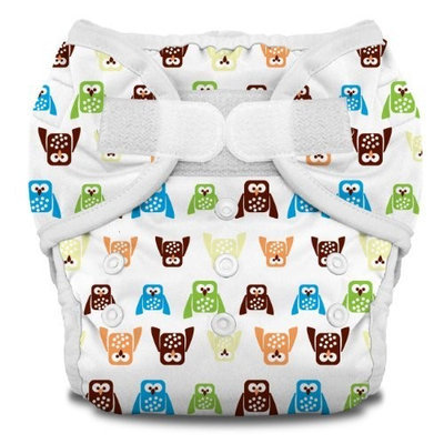 Thirsties Duo Diaper, Hoot, Size One (6-18 lbs)