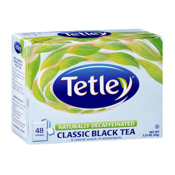 Tetley Naturally Decaffeinated Classic Black Tea Bags - 40 CT