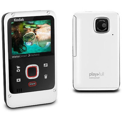 Kodak - Playfull 32MB HD Flash Memory Camcorder - White