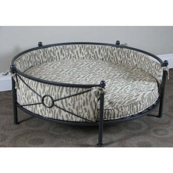 4d Concepts Smoked Metal Round Dog Bed