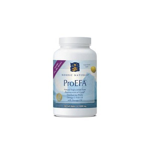 Nordic Pure Nordic Naturals ProEFA 1000 mg Soft-Gels, Lemon Flavor, 180 Count