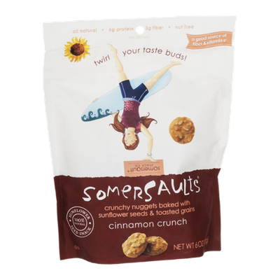 Somersaults Sunflower Seed Snack Cinnamon Crunch