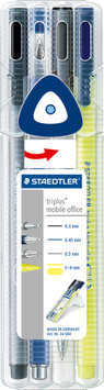 Staedtler Triplus Multiset of Rollerball Fineliner Highlighter and Mechanical Pencil 0.5mm Ref 34SB4