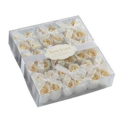 Lillian Rose Collection Box of 9 Sets of 4 Ivory Rose Bath Soaps