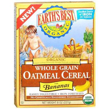 Earth's Best Organic Whole Grain Oatmeal with Bananas