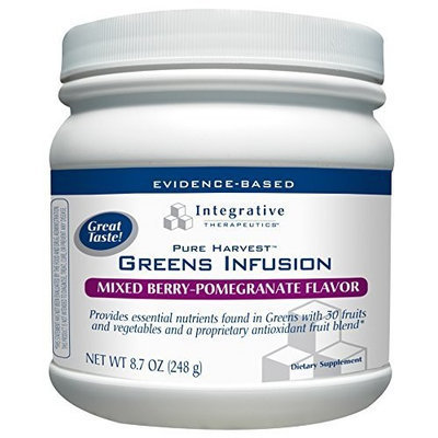 Integrative Therapeutic's Integrative Therapeutics Pure Harvest Greens Infusion, Mixed Berry - Pomegranate Flavor, 8.7 Oz