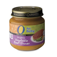 O Organics for Baby Organic Vegetable Beef Dinner, Stage 3, 4-Ounce Jars (Pack of 12)