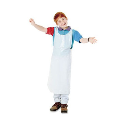 Baumgartens 64620 Disposable Apron- Polypropylene- White- 100/Pack
