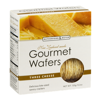 Rutherford & Meyer Gourmet Wafers Three Cheese
