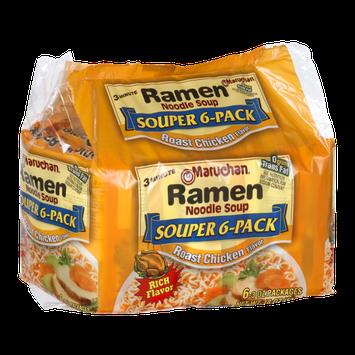 Maruchan Ramen Noodle Soup Souper 6-Pack Roast Chicken Flavor - 6 CT
