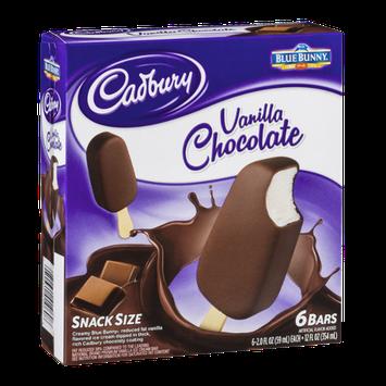 Cadbury Vanilla Chocolate Ice Cream Bars Snack Size - 6 CT