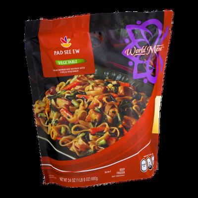 Ahold World Menu Thai Pad See Ew Vegetable